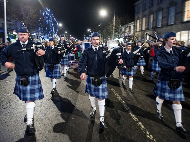 St Andrew's Day Celebrations in St Andrews, east Scotland
