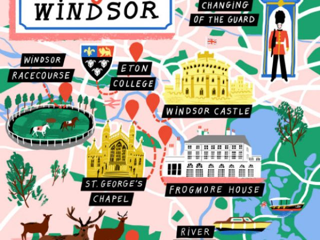 A map of royal things to do in Windsor