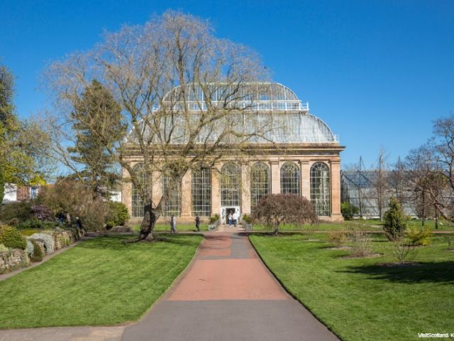 glasshouse del giardino botanico di edimburgo