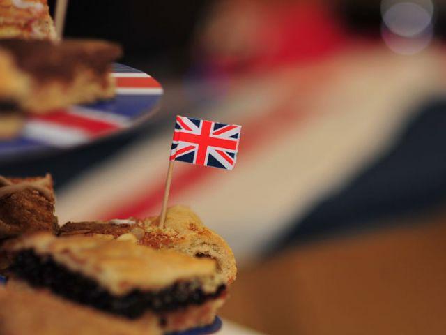 Cake met Britse vlag