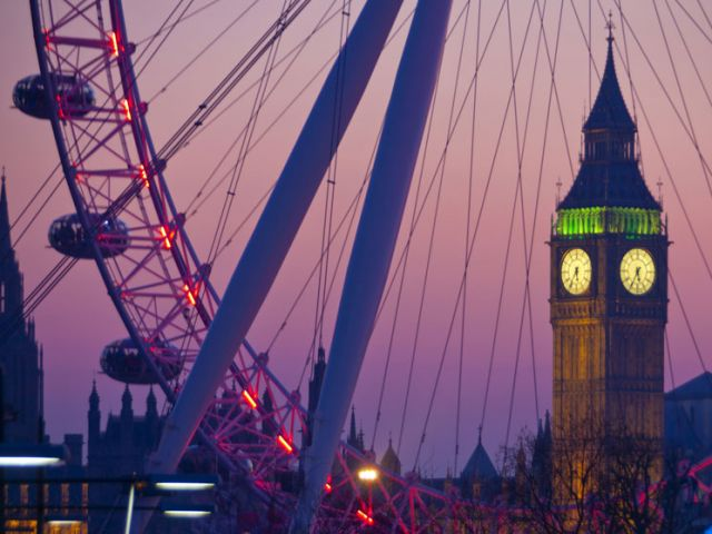 Waterloo Sunset met Big ben en London Eye
