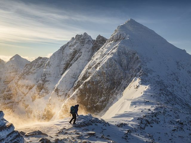 Hiker on An Teallach, Scotland