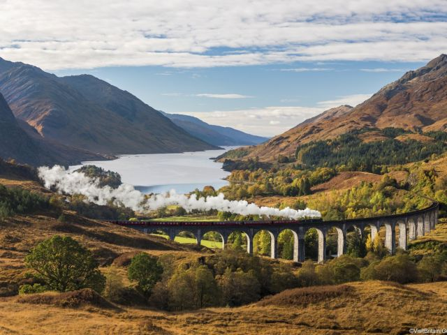 View over the Glenfinnan viaduct, Highlands, Scotland