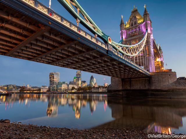 Tower Bridge, london evening view
