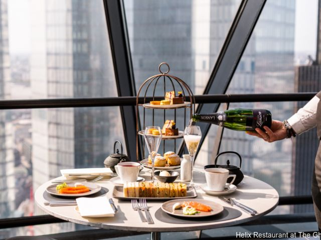 Gherkin Helix afternoon tea