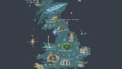 Magische kaart van Groot-Brittannië