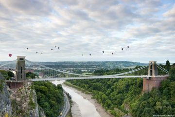 The Clifton Suspension Bridge in Bristol.
