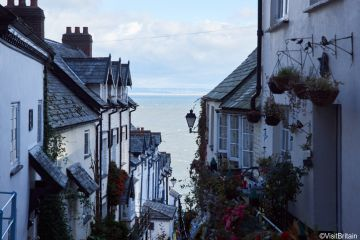 Traditional cottages in Clovelly, Devon, England