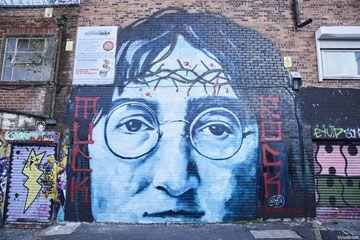 John Lennon street art in Liverpool