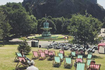 Summer in Princes Street Gardens, Edinburgh