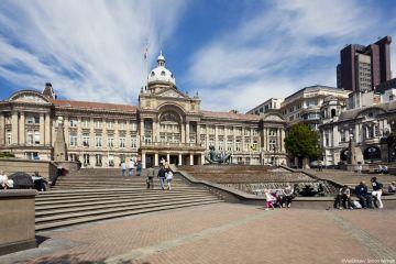Victoria Square in Birmingham, England.