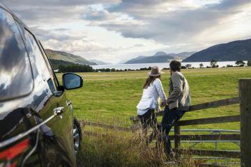 Die Aussicht am Loch Ness, Inverness, Schottland
