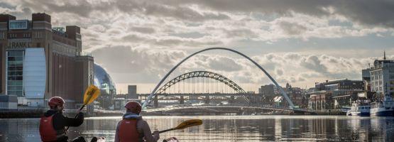 Kayak sur la Tyne à Newcastle