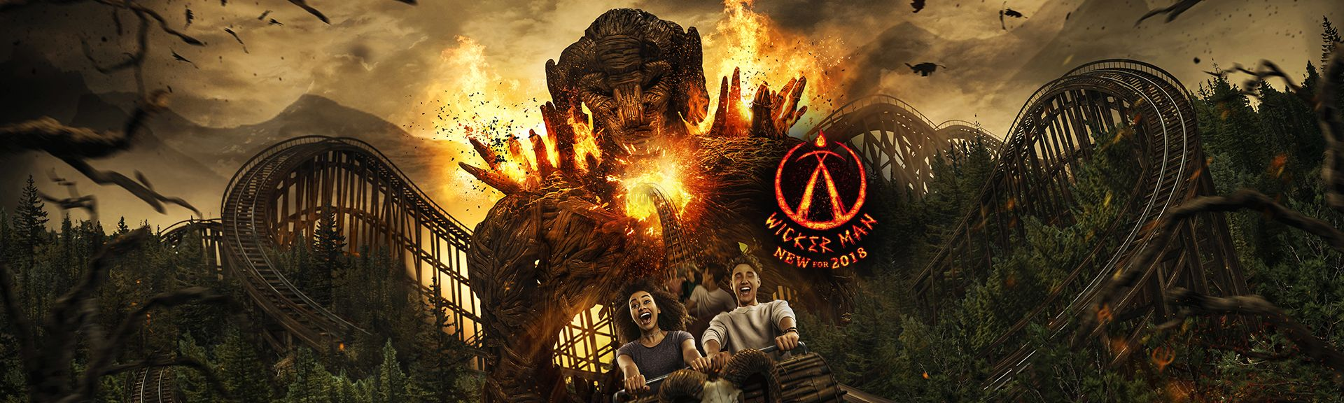 Alton Towers Wicker Man ride
