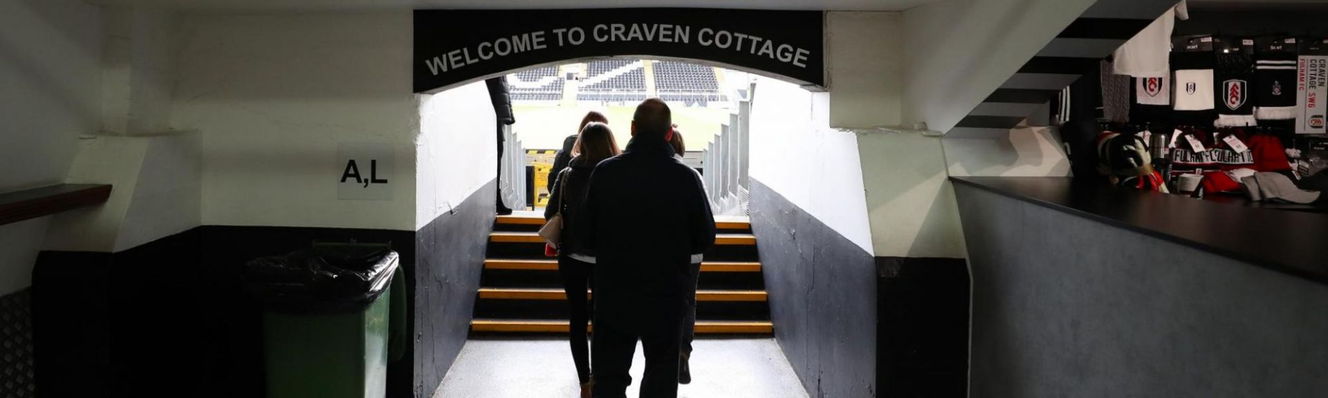 Tunnel at Craven Cottage stadium