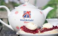 British teapot and cream tea