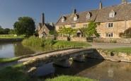 Le village de Lower Slaughter dans les Cotswolds, Angleterre