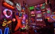 Neon lights on display at God's Own Junkyard, London