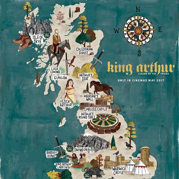 Map of King Arthur's Britain