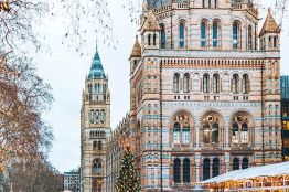 Ice skating at the Natural History Museum, London, England.©VisitBritain/ Anastasia Ustenikova