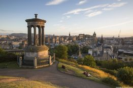 Golden Hour on Calton Hill in Edinburgh