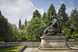 Lord Kelvin in Kelvingrove Park. Credit: Visit Scotland/Kenny Lam
