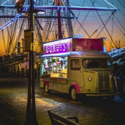 Food truck at the Waterfront, Liverpool