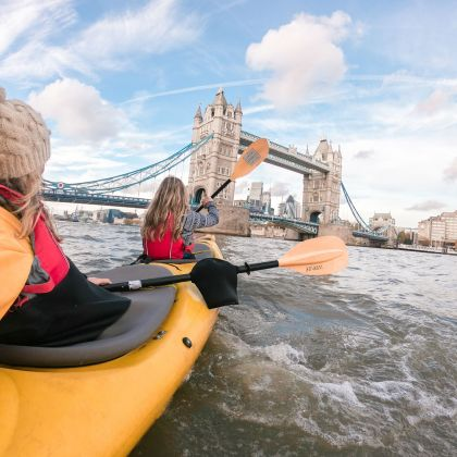 Kayaking, River Thames, London