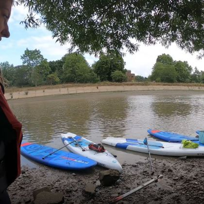 Paddle and Pick activity on a London canal