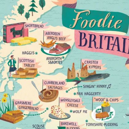 Foodie Map of Britain