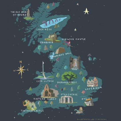 Explore magical things to do in Britain with our map!