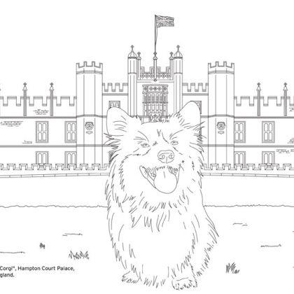 Marcel le Gorgi voor Hampton Court kleurplaat