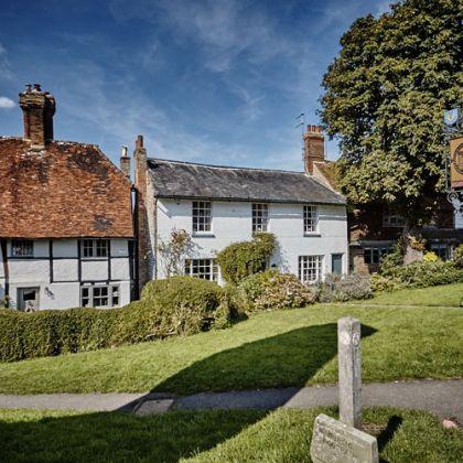 Cottages in het dorpje Robertsbridge, Zuidoost-Engeland