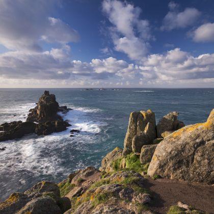 Land's End, het meest westelijke punt van Engeland, in Cornwall
