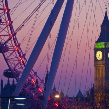 Waterloo Sunset met Big ben en London Eye