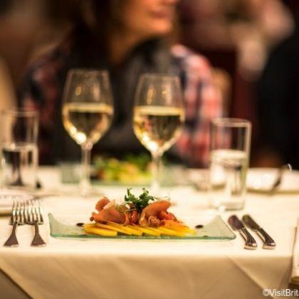 Stijlvol en smakelijk gerecht in Brits restaurant