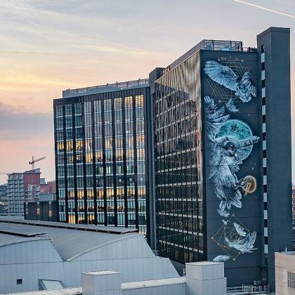 Athena Rising Mural in Leeds, England