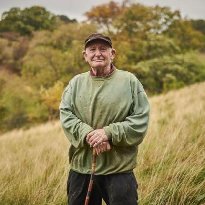 Schilder Peter Hicks in de North York Moors