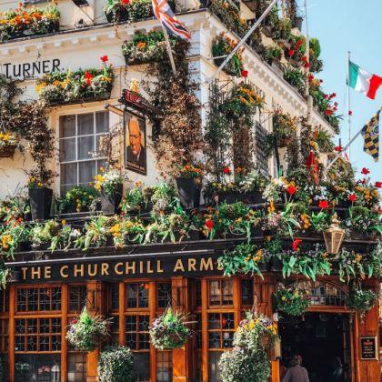 Churchill Arms pub, London