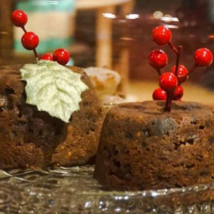 Traditionele Britse Christmas Pudding