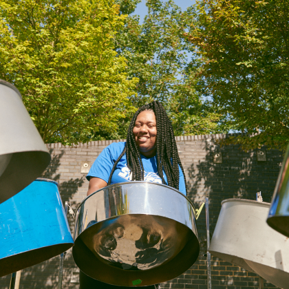 Steel pan player for Brent London Borough of Culture 2020