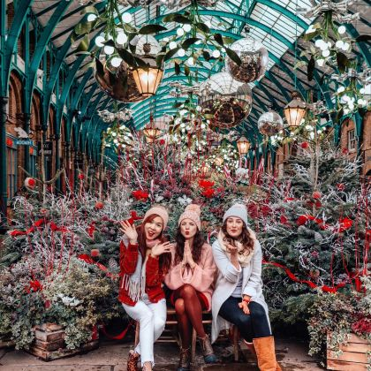 Christmas at Covent Garden Market, London, England