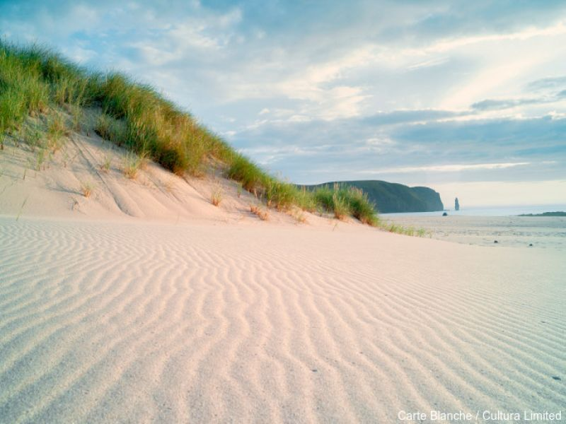 Remote Sandwood Bay, Cape Wrath, North West Highlands of Scotland. Credit to Carte Blanche / Cultura Limited