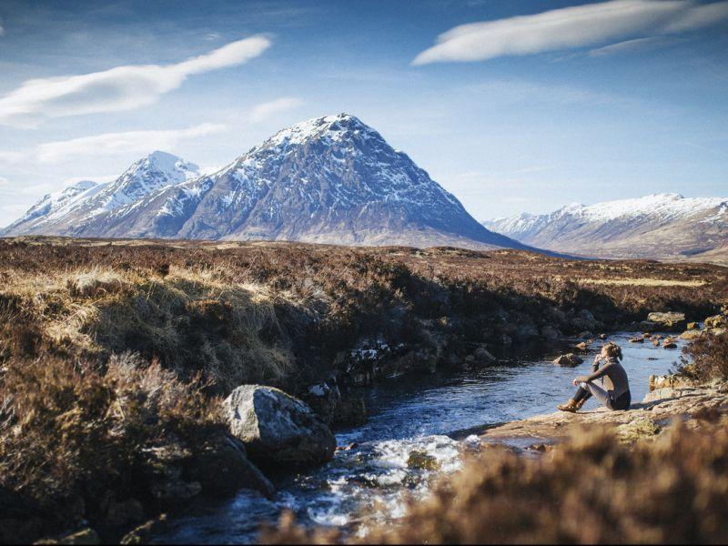 Les montagnes de Glencoe en Écosse