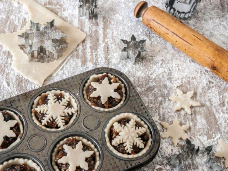 mince pies, een van de onderdelen van een Brits kerstdiner
