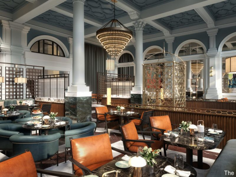 Dining area at The Parkgate Hotel, Cardiff.