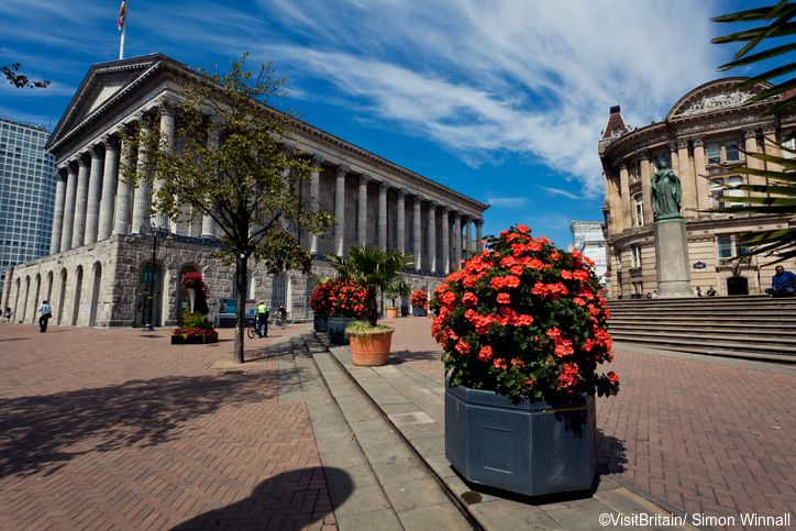 Birmingham city centre has historic buildings such as the City Council House and Town Hall built in the late 19th century, in Victoria Square.