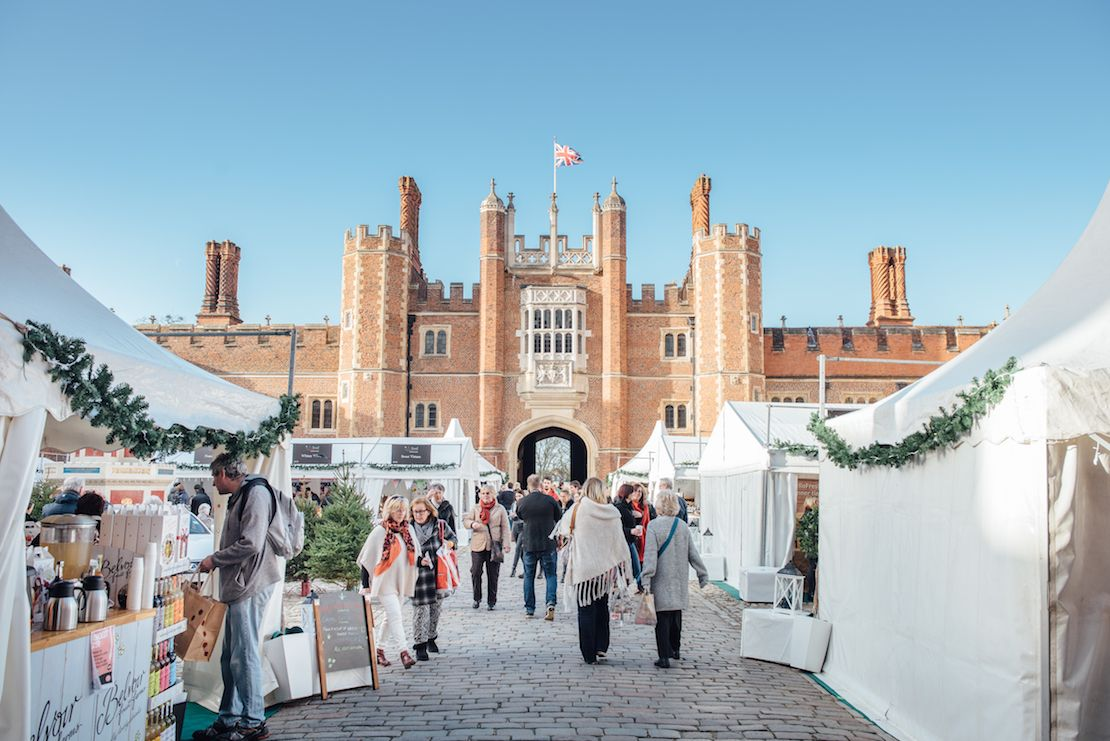 Festive Feast stalls open for business at Hampton Court Palace