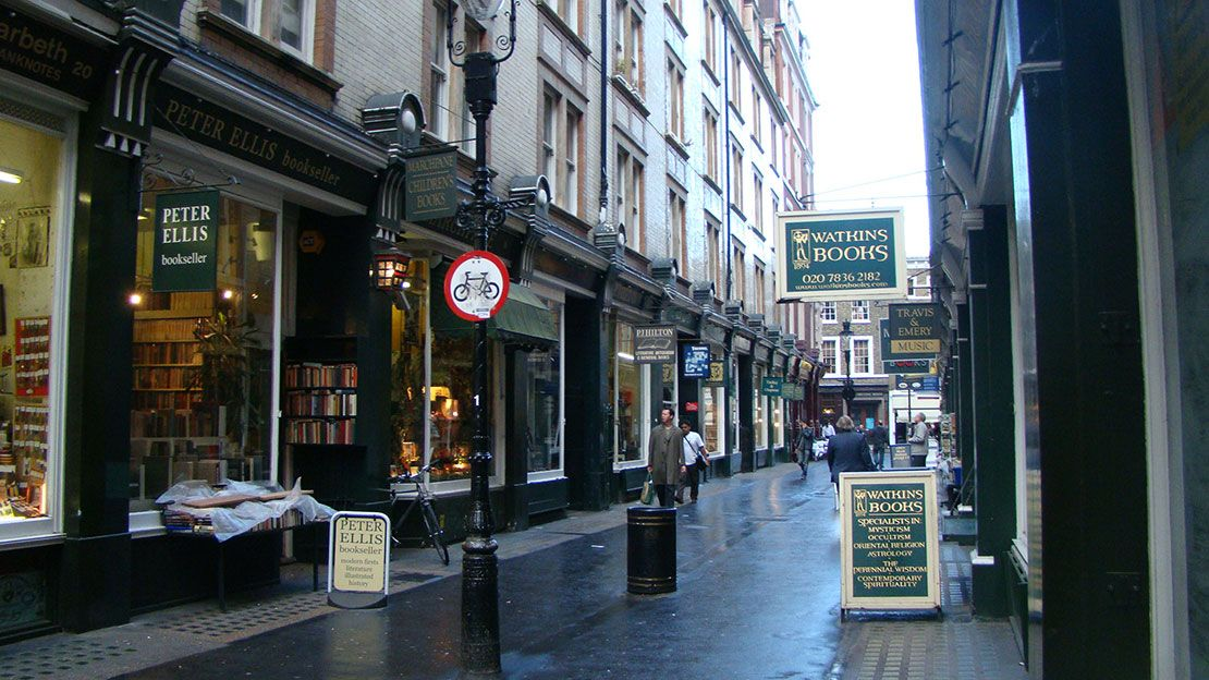 Cecil Court bookshops, London