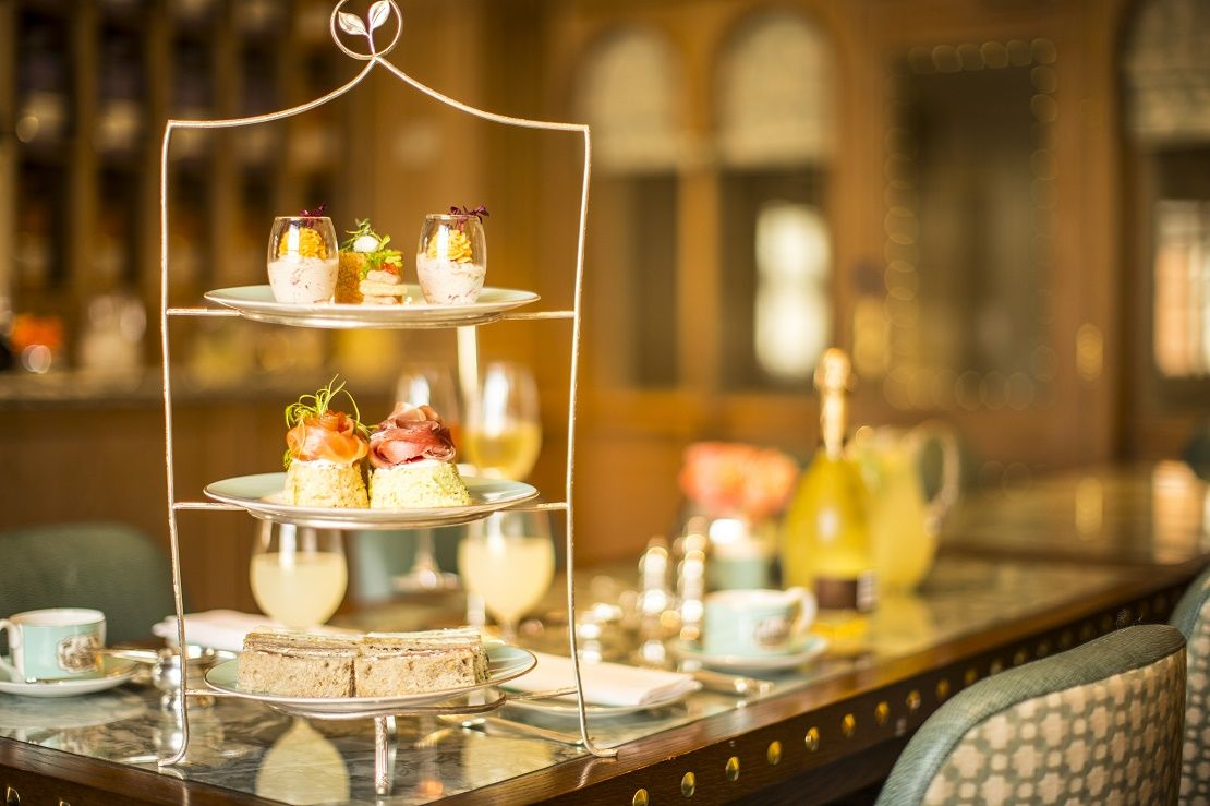 Table set for afternoon tea at Claridge's